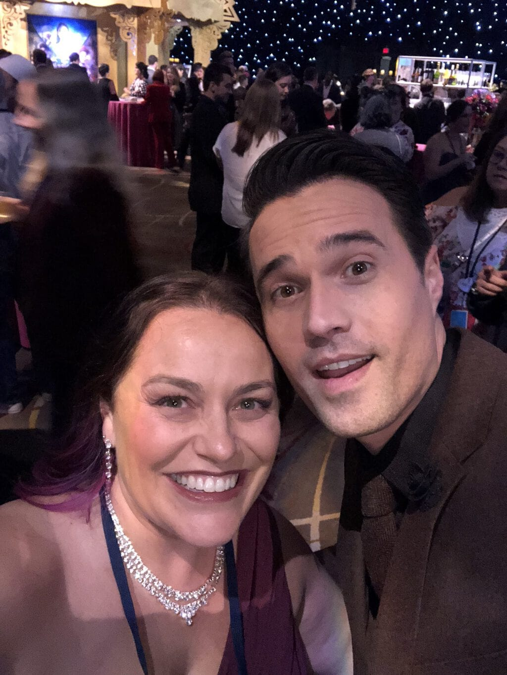 Jana Seitzer, Brett Dalton, Walking the Red Carpet for Disney's Nutcracker and the Four Realms