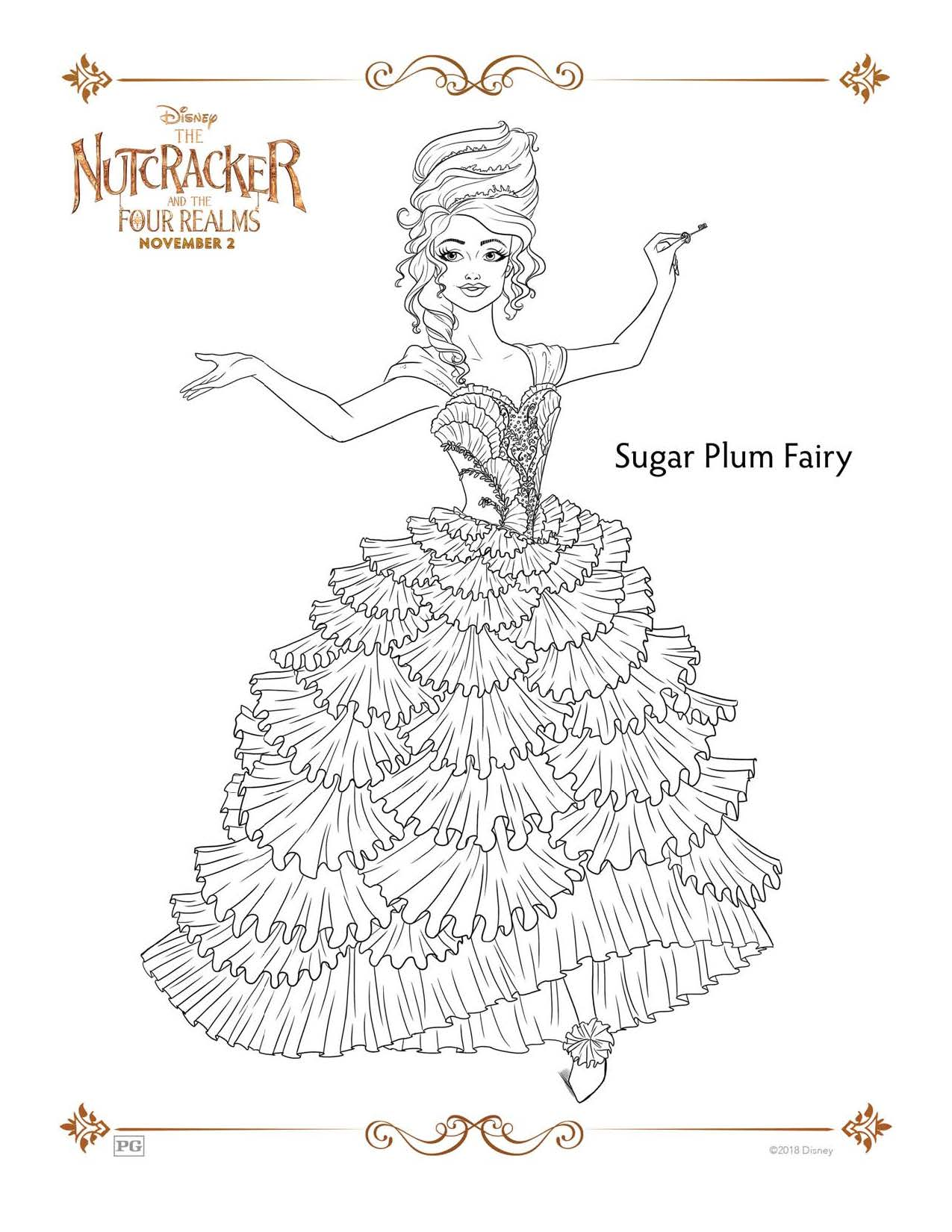 The Nutcracker and the Four Realms Coloring Sheets