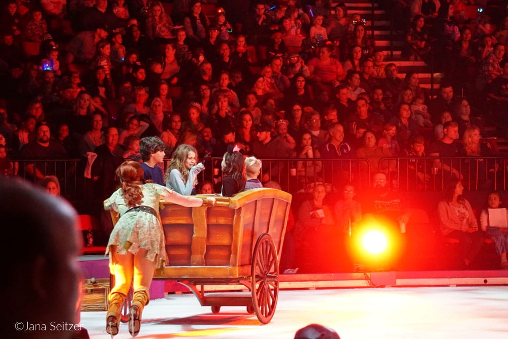 Disney On Ice in Portland through October 28 will make you Dare to Dream Rapunzel cart audience participation
