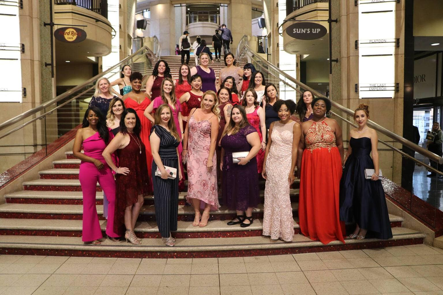 Walking the Red Carpet for Disney's Nutcracker and the Four Realms - Oscar Steps group shot