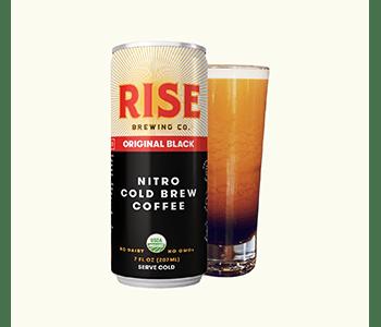RISE Nitro cold brew coffee