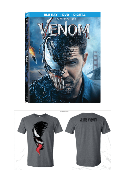 Venom on BluRay 12/18 + Giveaway