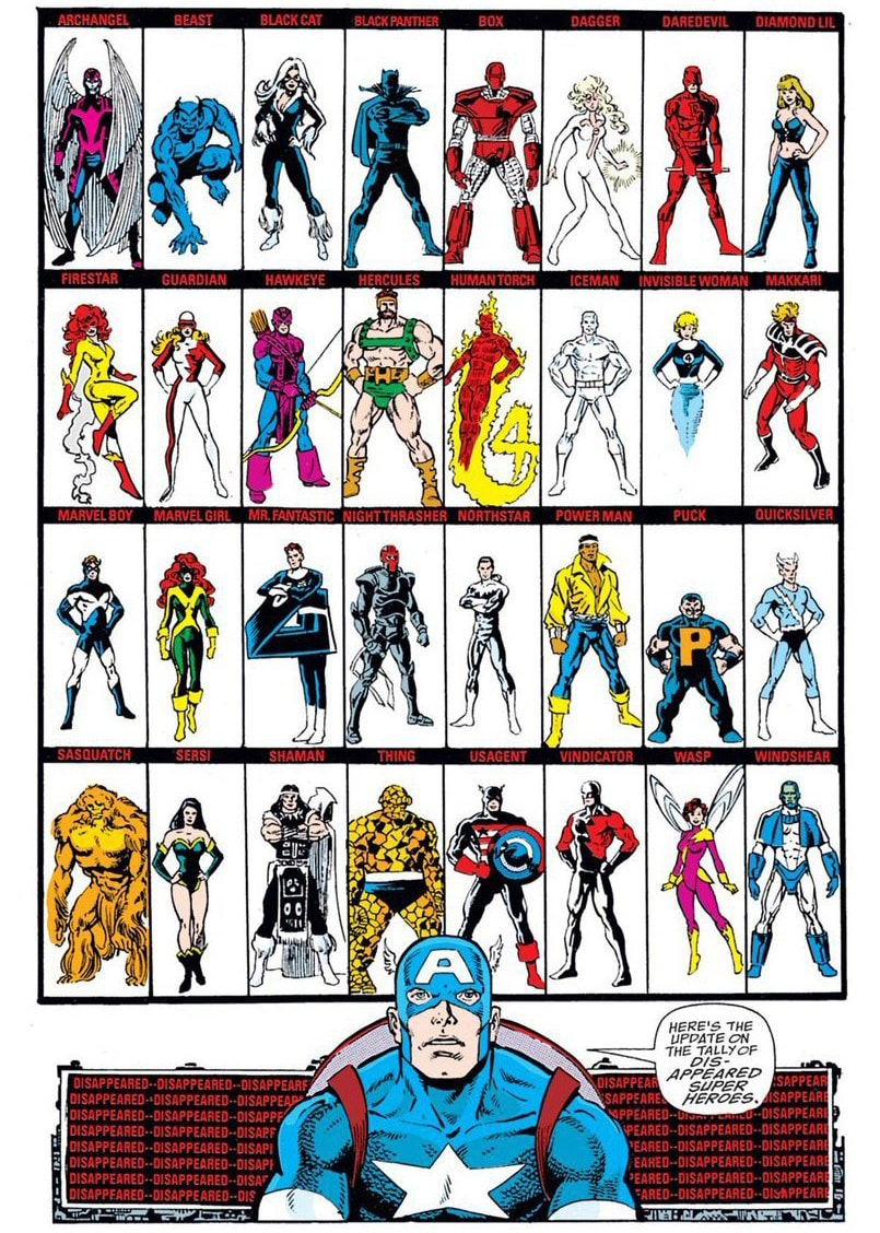 This also parallels a panelin theInfinity Gauntlet Comic Bookwhere Captain America sits looking at all the missing heroes.