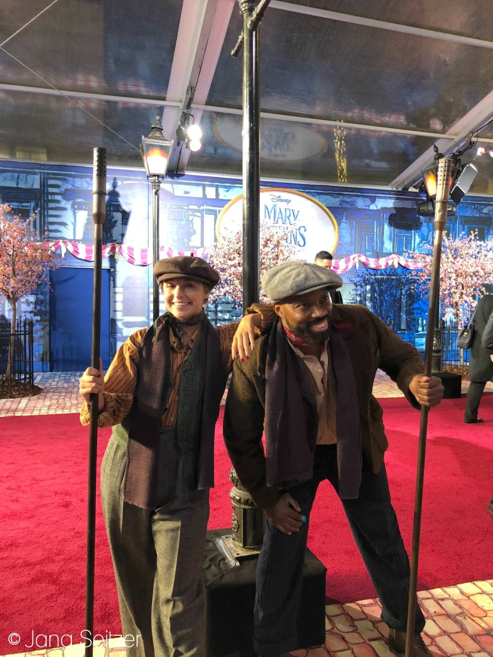 Mary Poppins Returns Red Carpet Premiere learies lamplighters