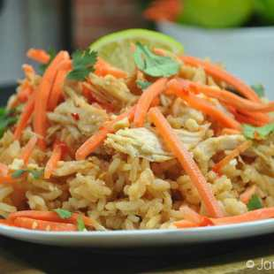 Instant Pot Thai Chicken Rice Bowl