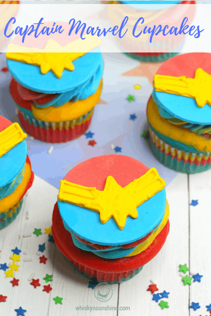 Captain Marvel Cupcakes