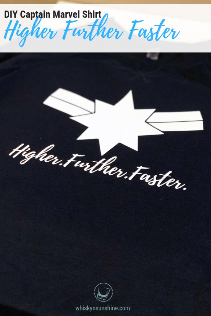 Captain Marvel Higher Further Faster Shirt