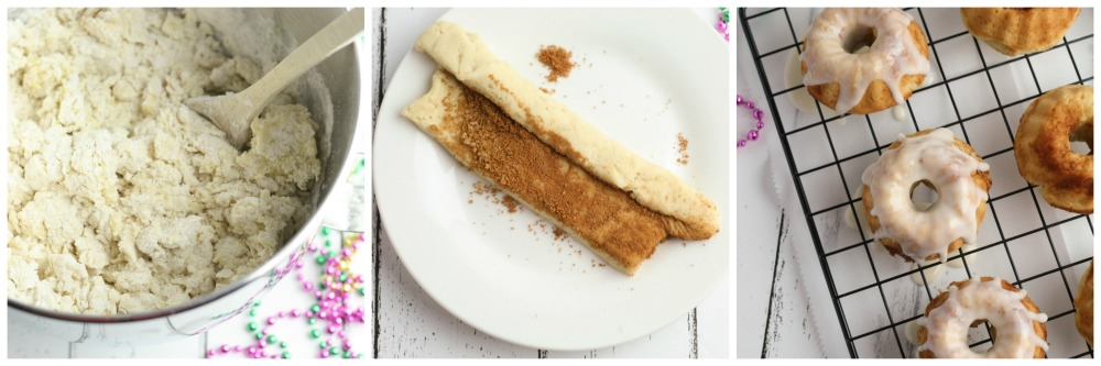Mini Gluten Free King Cakes in process