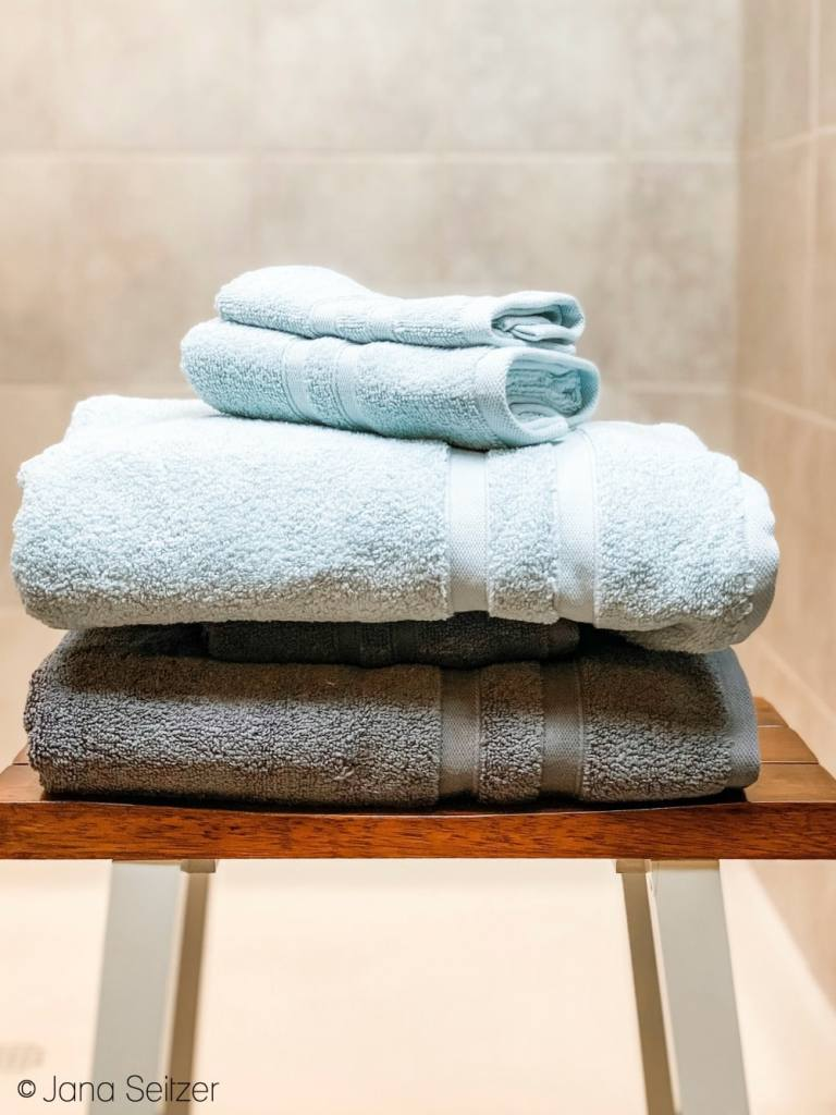 micro cotton towels sea glass and charcoal