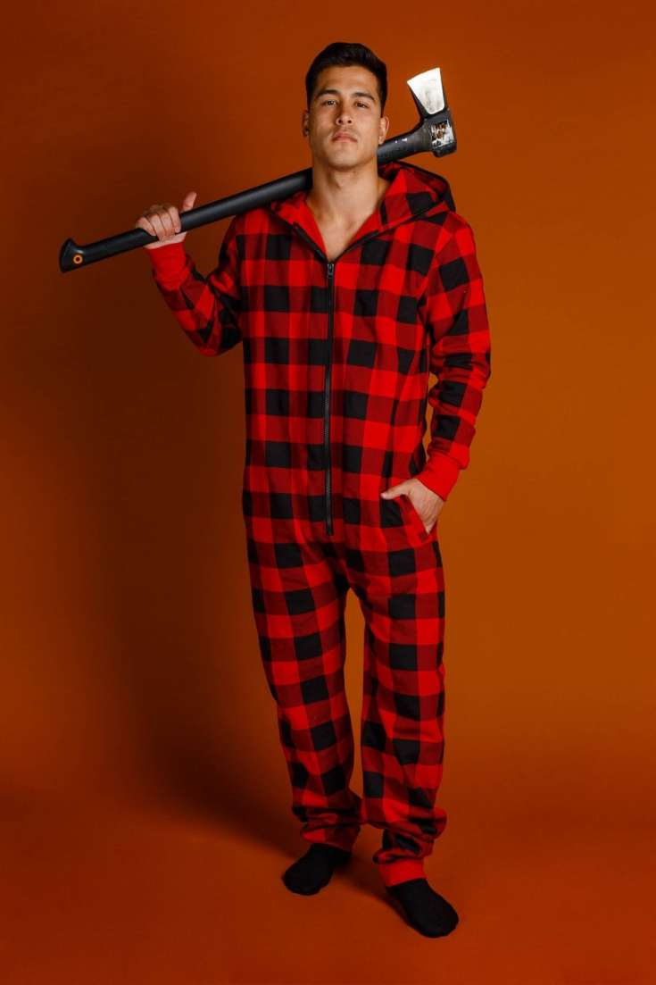 Shinesty Buffalo Check Adult Onesie