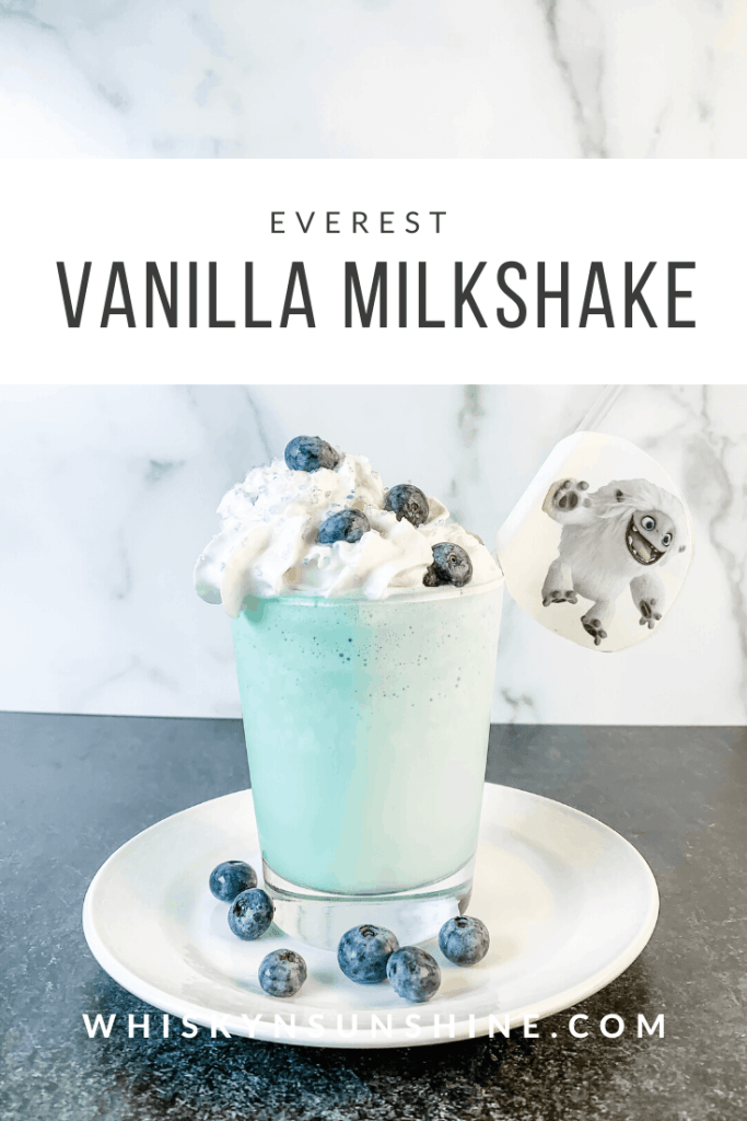 Everest Vanilla Milkshake with Blueberries