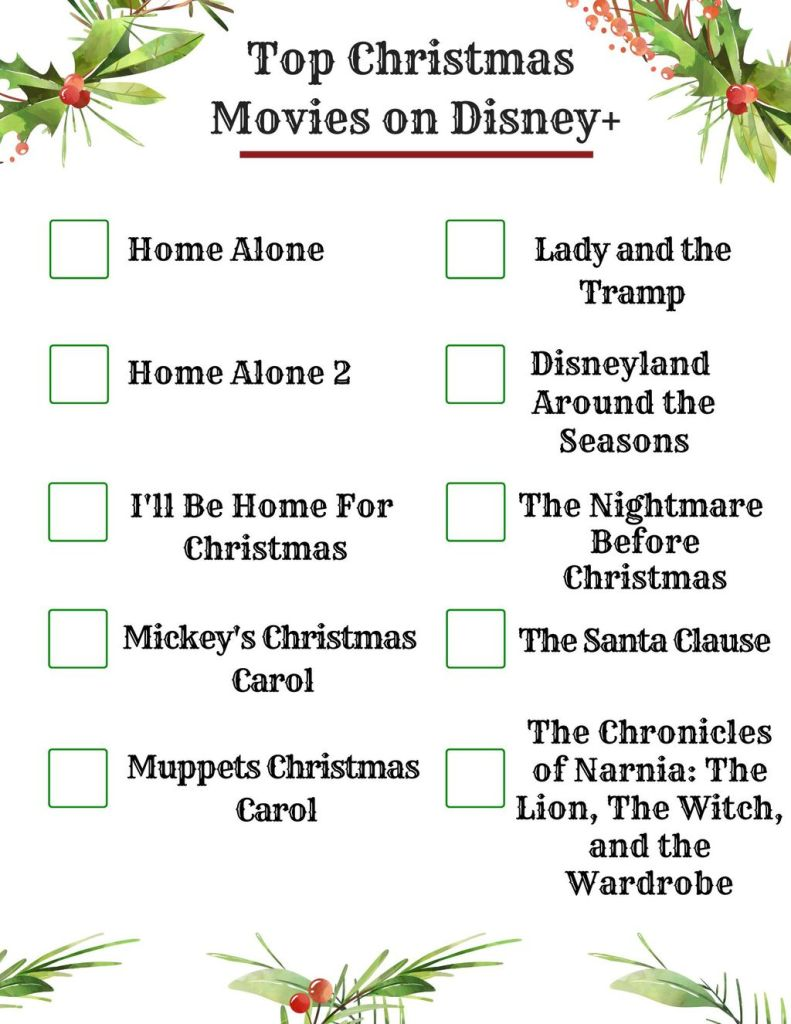 ten best Disney Plus Christmas movies