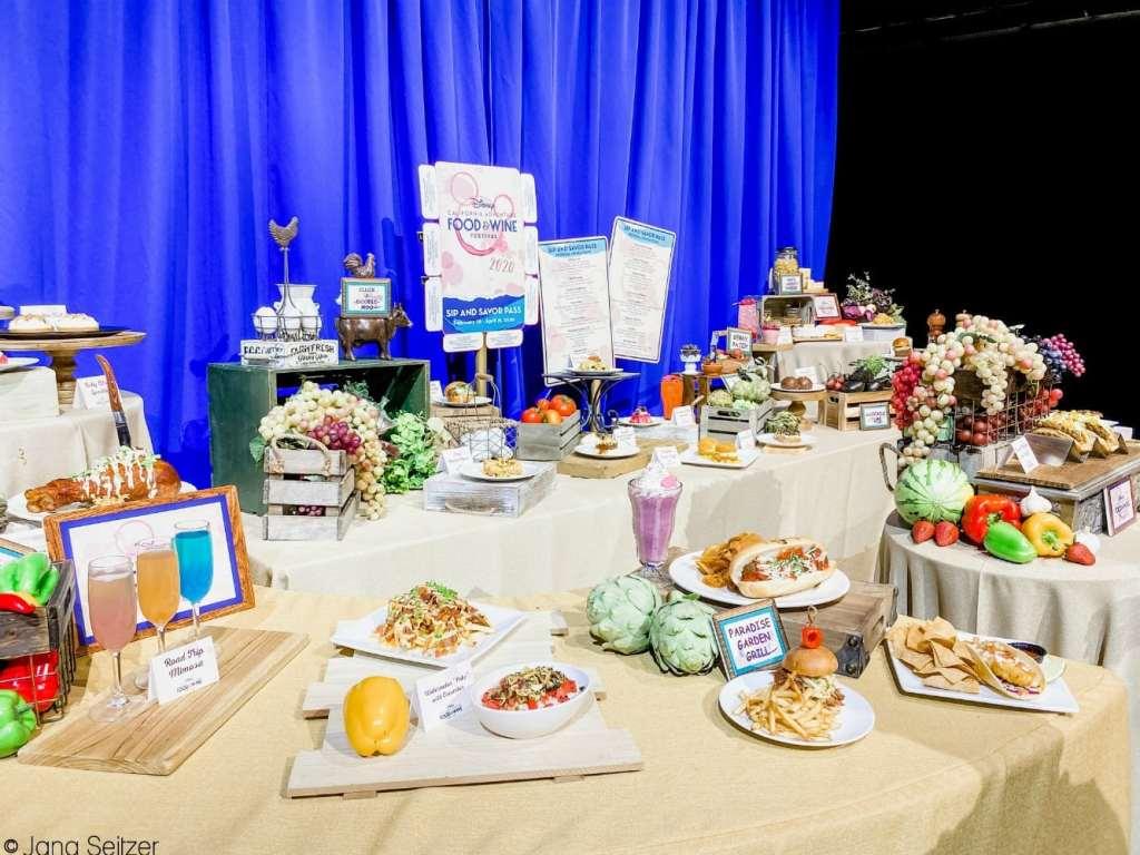 disneyland food and wine festival food spread