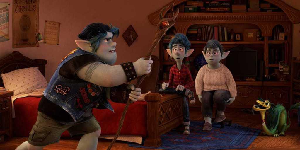 Ian, Laurel and Barley Pixar Onward