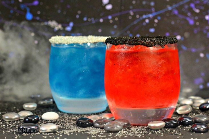 Star Wars Rey and Kylo Ren Lightsaber Cocktails