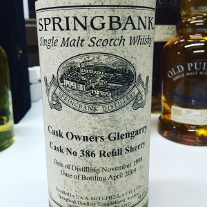 Springbank 10 Years Old, Cask 386 for the Glengarry Cask Owners