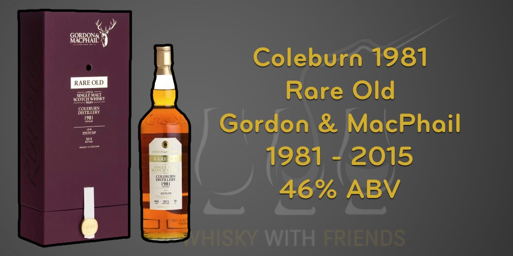 Gordon & MacPhail - Rare Old - Coleburn 1981