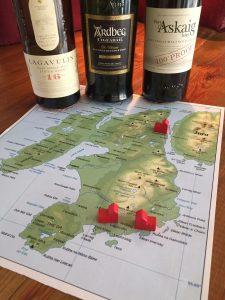 3 Islay whisky's op de kaart van Islay