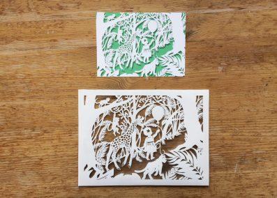 Custom Birth Announcement - Jungle - Original with Card
