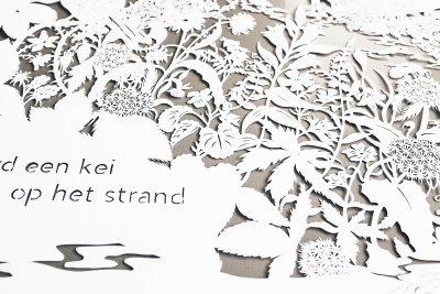 Commissioned papercut - Publisher Plint - Detail