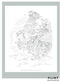Commercial Commissioned papercutting - Publisher Plint - Window Poem
