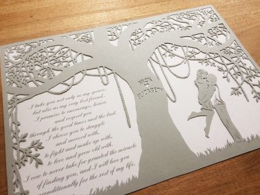 Commission Papercut Elizabeth - From left - Whispering Paper