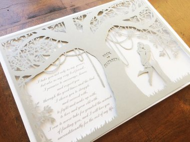 Commission Papercut Elizabeth - Layers with Shadows - Whispering Paper