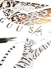 Custom Birth Announcement - Guus - Work in Progress 5 - Whispering Paper