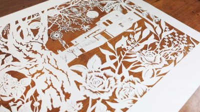 Wedding Anniversary Papercut - Ibiza - Inspiration from the Client - Total left side - Whispering Paper