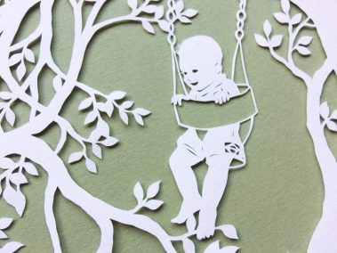 Papercut Gift for a Nanny - Detail boy - Whispering Paper