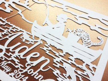 Papercut Hilary - Aiden - detail Side - Whispering Paper