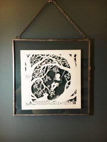 Papercut Gift for a Nanny - Framed - Whispering Paper