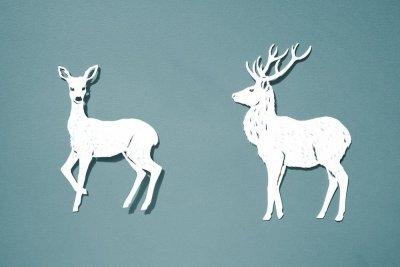 Papercut Illustrations for Libelle Magazine - Deer - Whispering Paper
