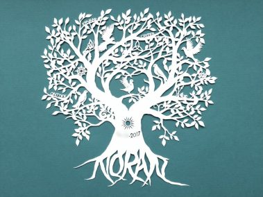 Personal Birth Announcement with Lifetree - Noran - Total Papercut - Whispering Paper