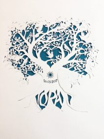 Personal Birth Announcement with Lifetree - Noran - Work in Progress 2 - Whispering Paper