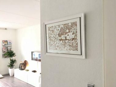 papercut chantal Wedding Anniversary Papercut - Ibiza - Framed - Whispering Paper