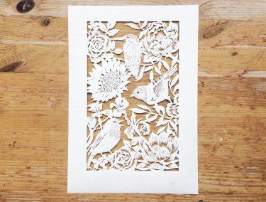 Bespoke Papercut - Flowers and Birds - Total Papercut - Whispering Paper