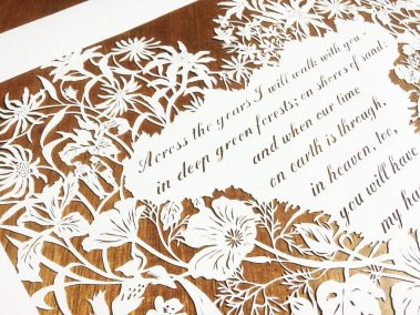 Papercut 25th Anniversary - Detail top left - Whispering Paper