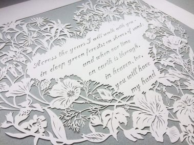Papercut 25th Anniversary -Detail Middle on Grey - Whispering Paper