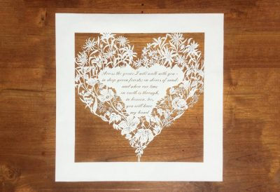 Papercut 25th Anniversary - Total on wood - Whispering Paper