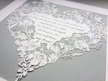 Papercut 25th Anniversary - Total from right side on Grey - Whispering Paper
