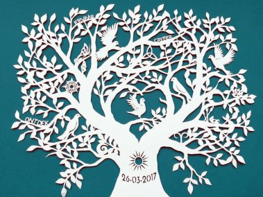 Personal Birth Announcement with Lifetree - Noran - Top - Whispering Paper