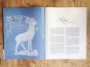 Papercut Illustrations for Libelle Magazine - Magazine - Aries - Whispering Paper