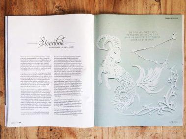 Papercut Illustrations for Libelle Magazine - Magazine - Capricorn - Whispering Paper