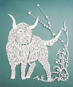 Papercut Illustrations for Libelle Magazine - Taurus - Whispering Paper