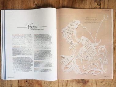 Papercut Illustrations for Libelle Magazine - Magazine - Pisces - Whispering Paper