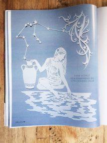 Papercut Illustrations for Libelle Magazine - Magazine - Aquarius - Whispering Paper