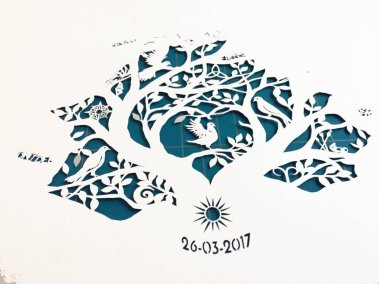 Personal Birth Announcement with Lifetree - Noran - Work in Progress 1 - Whispering Paper