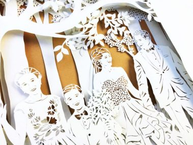 Anniversary Family Wedding - Layered Papercut - Detail Family 2 - Whispering Paper