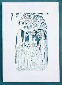Anniversary Family Wedding - Layered Papercut - Total - Whispering Paper